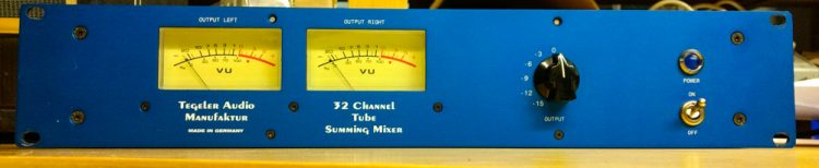 Tegeler Audio Manufaktur TSM Tube Summing Mixer_